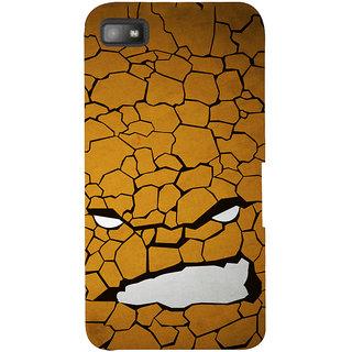 Snapdilla Crazy Funky Rugged Texture Dry Land Devil Smile Desert Smartphone Case For BlackBerry Z10