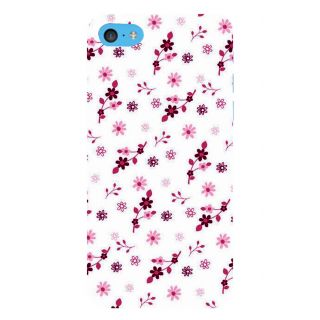 Snapdilla White Background Pleasant Floral Design Beautiful Cool Phone Case For Apple IPod Touch 6