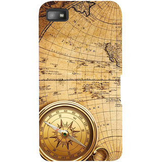 Snapdilla Vintage Ancient Old Golden Compass Globe Map British Mobile Pouch For BlackBerry Z10