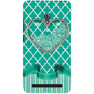 Snapdilla Unique Pearls Sparkling Diamond Heart Shaped Green Color Cute Phone Case For Asus Zenfone 5