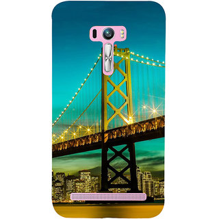 Snapdilla Sparkling San Francisco Golden Gate Bridge Night Life Engineering Architecture Phone Case For Asus Zenfone Selfie ZD551KL