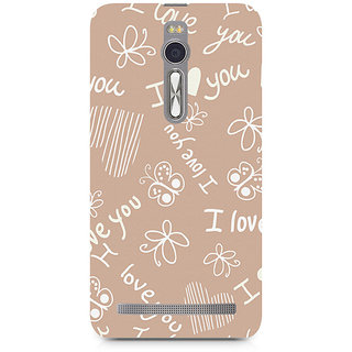 CopyCatz I Love You Premium Printed Case For Asus Zenfone 2