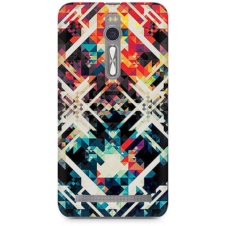 CopyCatz Two Square Abstract Premium Printed Case For Asus Zenfone 2