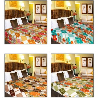 Anjani's Stylish  Trendy Pack of 3 Multicolor Single bed blanket
