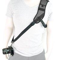 MegaGear Single Shoulder Neoprene Neck Strap Belt For Camera SLR DSLR Black