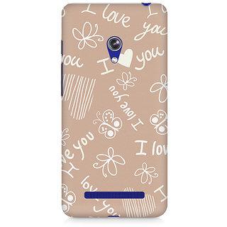 CopyCatz I Love You Premium Printed Case For Asus Zenfone 5