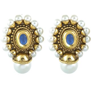The Jewelbox Antique Pearl Blue Earring