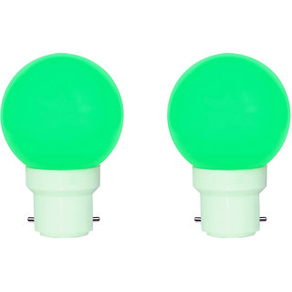 0.5 Watt Led Night Bulb Green Pack Of 2