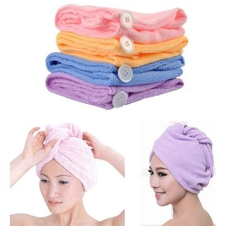 RIGHT TRADERS FAST HAIR DRYING TOWEL WRAP HAIR SCARF CAP ( PACK OF 1 )