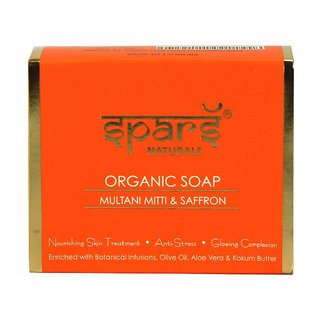 Sparsh - Natural Organic Soap - Multani Mitti  Saffron