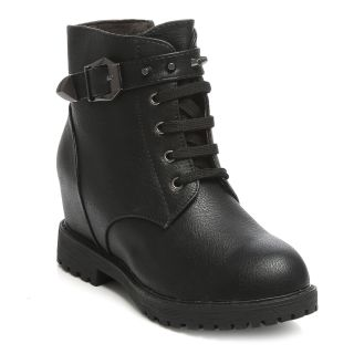 TEN Black Combat Leather Boots