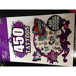 450 Washable Temporary Tattoos Fashion Art Book Style Party Portable Fun Face