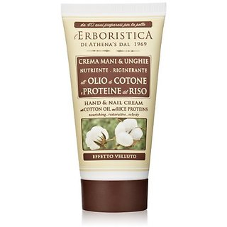 Erboristica Hand Cream with Cotton Oil and Rice Proteins, 2.54 Fluid Ounce
