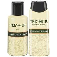 Trichup Long Hair Care Or Hair Growth Kit (Healthy Long  Strong Oil (200ml X 2), Healthy Long  Strong Shampoo (200ml)