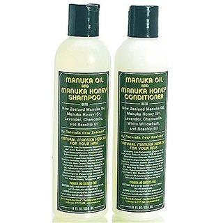 Naturals New Zealand East Cape Manuka Oil and Active Manuka Honey Shampoo and Conditioner Set 8oz/236ml each