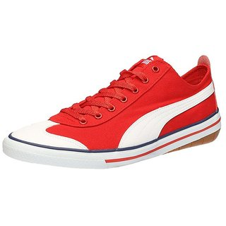 8865f97d791 Buy Puma Men s 917 Fun IDP High- Risk Red- White Canvas Shoes Online ...