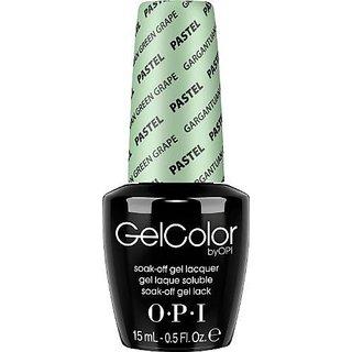 OPI Gel Nail Color Pastel, Gargantuan Green Grape, .5 Ounce