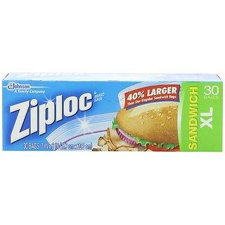Ziploc Sandwich Bags, X-Large, 30-Count(Pack of 3)