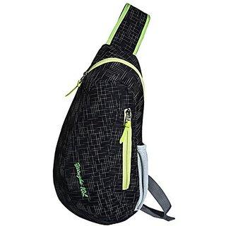 Daosen Multi-functional Cross Body Chest Pack Hiking Sling Bag for Men&Women Black