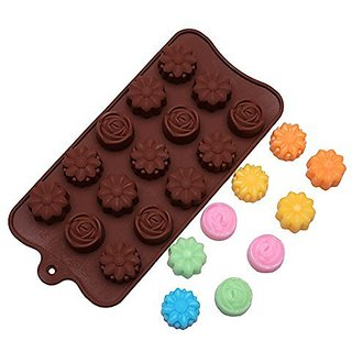 Yunko Various Flower Ice Cube Silicone Mold Chocolate Candy Mold Fondant Cake Decorating Mold