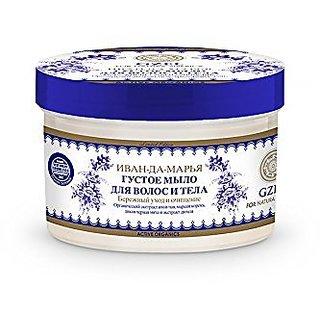 Natura Siberica Ivan-and-maria Hair and Body Thick Soap 300ml Ivan-tea Extract, Organic Siberian Golden Root, Wild Black