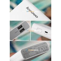 Original Lenovo 10400mAh Mobile Charger Power Bank Universal USB Port-White