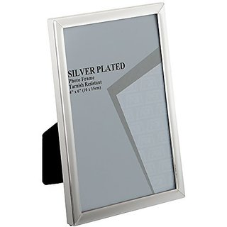 Viceni Silver Plated Photo Frame, 6 by 4-Inch