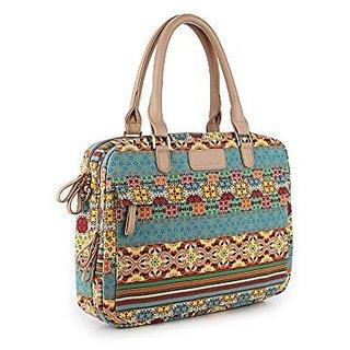 YuHan Bohemian Laptop Shoulder Bag Canvas Fabric Laptop Carrying Case/ Shoulder Messenger Bag / Briefcase for Macbook, A