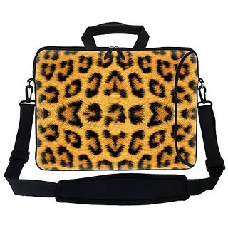 Meffort Inc 17 17.3 inch Neoprene Laptop Bag Sleeve with Extra Side Pocket, Soft Carrying Handle & Removable Shoulder St