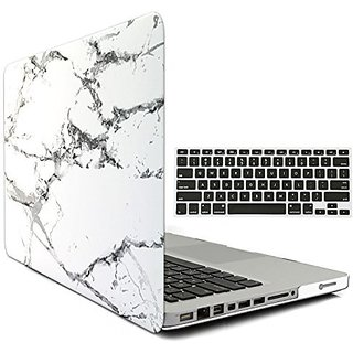 iBenzer - 2 in 1 Soft-Skin Smooth Finish Soft-Touch Plastic Hard Case Cover & Keyboard Cover for Macbook Pro 13 WITH CD
