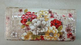 Floral Print Ladies Wallet