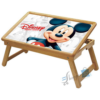Mickey Mouse Multipurpose Foldable Wooden Study Table For Kids