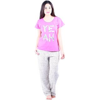 127454d822 Buy Vixenwrap Cotton Pink Printed Top Pyjama Set For Girl s Online ...