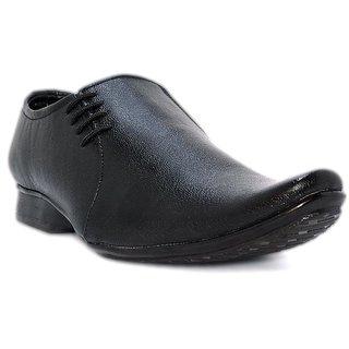 Blue Pop Men Black Lace-Up Formal Shoes