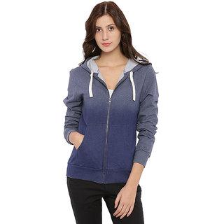 Campus Sutra Women's Blue Sweatshirt