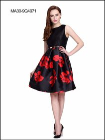 Black and Red Designer Party Wear Kurti