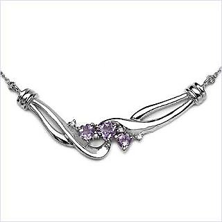 Johareez Amethyst Silver Necklace