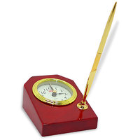 Archies Golden Table Clock With Pen - 3509239