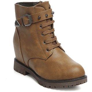 TEN Womens Tan Boots