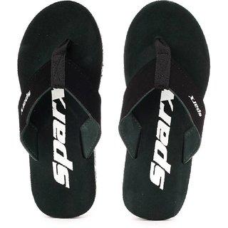 Sparx Mens Black Flip Flops