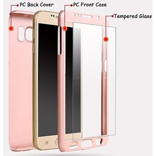 AR ACCESSORIES 360 DEGREE FULL COVERED MOBILE PHONE COVER WITH TEMPERED GLASS FOR APPLE IPHONE 5S
