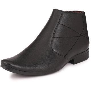 Knoos Men Black Zip Boots