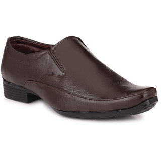 Knoos Men Brown Slip on Formal Shoes