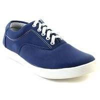 Pask's Men's Blue Lace-up Casual Shoes