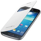 ENVY Premium Smart S View Glass Protection Flip Cover Case For Samsung Galaxy S4