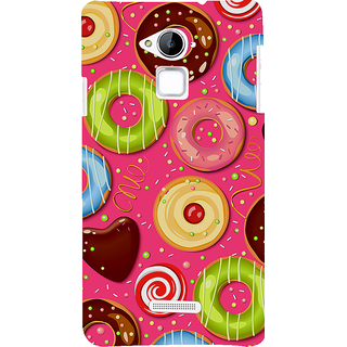 Snapdilla Pink Background Colorful Donut Pattern Chocolate Cartoon Smartphone Case For Coolpad Note 3