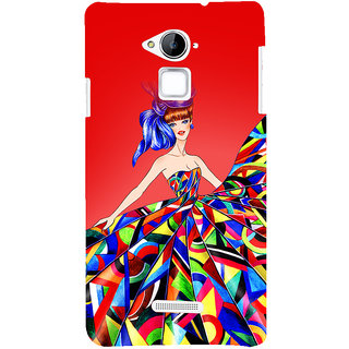 Snapdilla Red Background Unique Page 3 Blonde Colorful Fancy Girl 3D Print Cover For Coolpad Note 3