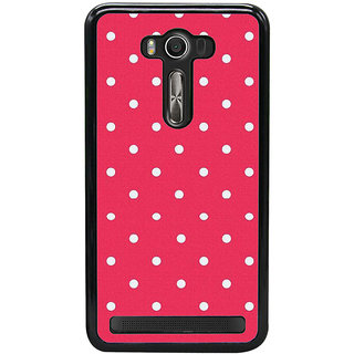 Fuson Designer Back Case Cover For Asus Zenfone 2 Laser ZE550KL (Red White Spots Reddish White Lovely)