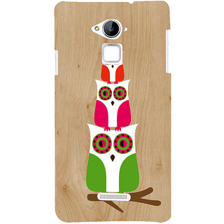 Snapdilla Light Color Wood Pattern Cartoon Owl Pretty Cute Clipart Mobile Cover For Coolpad Note 3