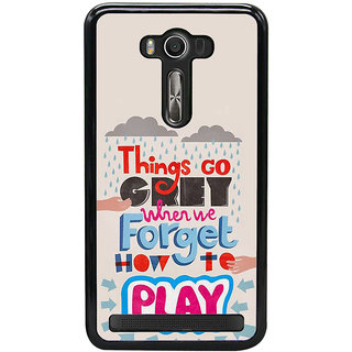 Fuson Designer Back Case Cover For Asus Zenfone 2 Laser ZE550KL (Agonise Anxious Concerned Distressed Vexed)